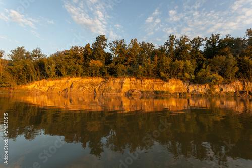 Photo High steep banks of the Drava River
