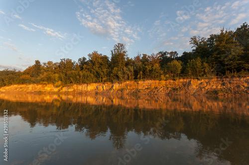 High steep banks of the Drava River Canvas Print