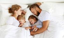 Healthy Sleep. Happy Family Pa...