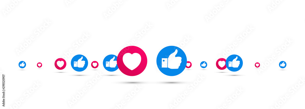 Fototapeta icone, consensi, like, social network