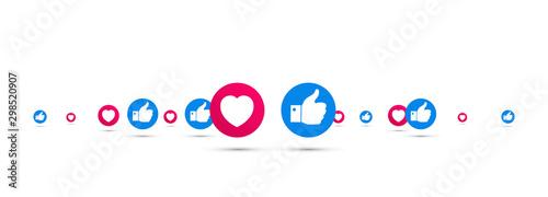 Pinturas sobre lienzo  icone, consensi, like, social network