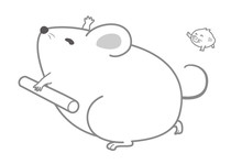 子、鼠のイラスト、年...