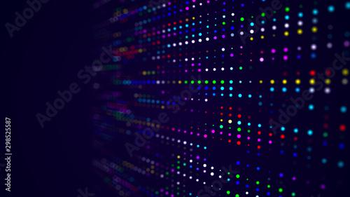 Fotografía  Abstract digital background. Big data code matrix. 3d rendering.