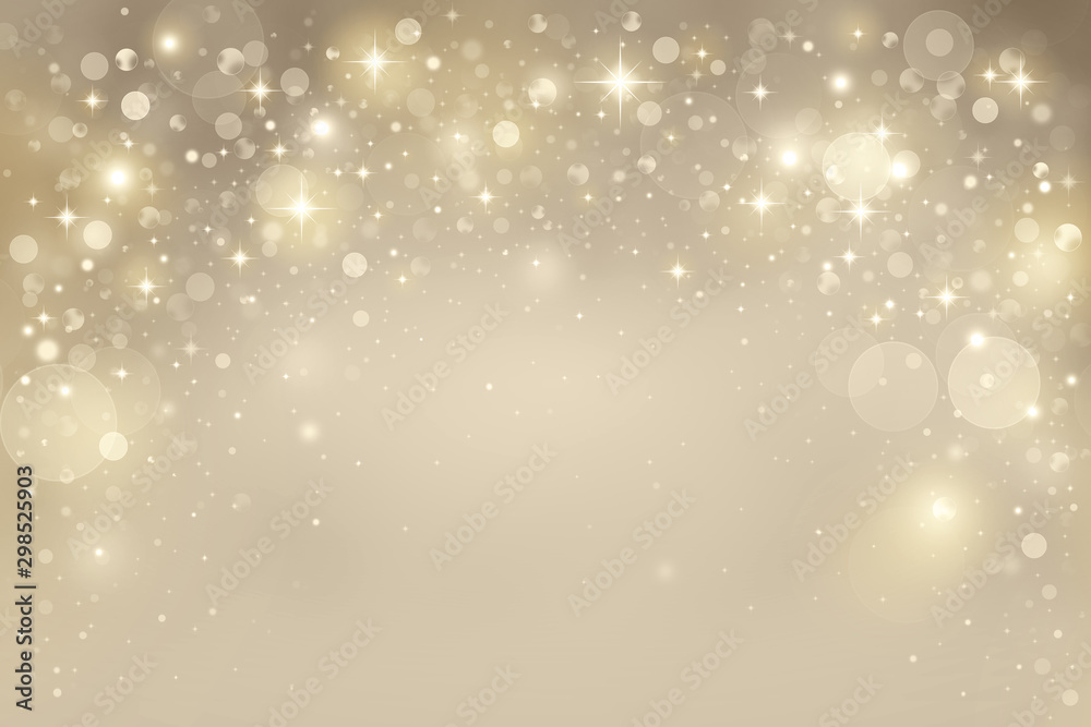 Fototapety, obrazy: Elegant gold bokeh background