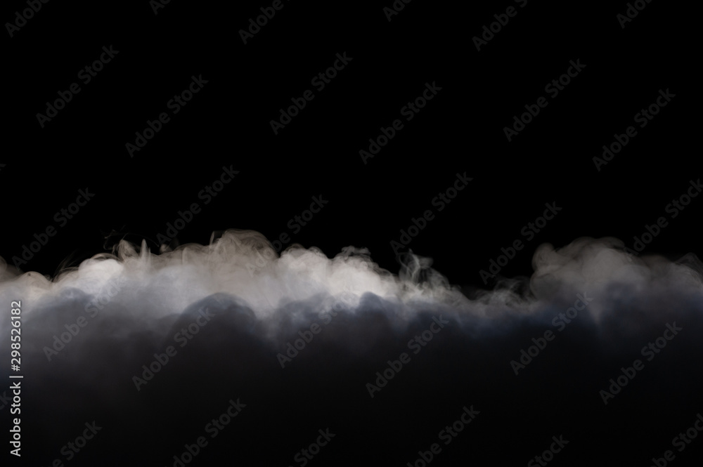 Fototapety, obrazy: Realistic dry ice smoke clouds fog overlay perfect for compositing into your shots. Simply drop it in and change its blending mode to screen or add.