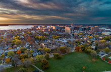 Madison Isthmus And Capitol