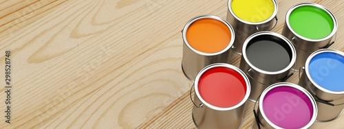 Banner for paint shop. Several intense colors.