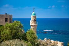 Al-Bahr Mosque Tower In Jaffa.