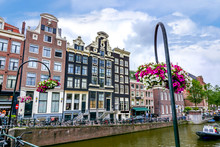 Amsterdam Canals And Architecture In Summer, Netherlands