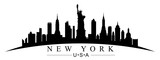 New York city silhouette - for stock