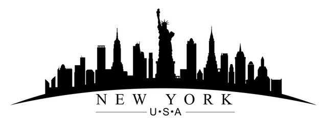 Silueta grada New Yorka - za dionice