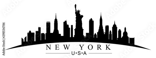 Canvas Print New York city silhouette - for stock