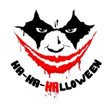 Halloween Circus Performer Vector Smile Face