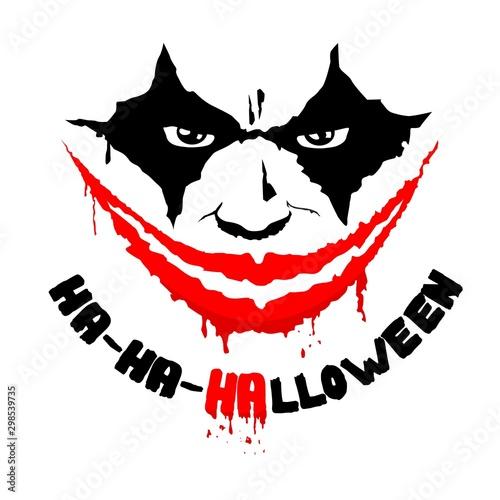 Photo halloween circus performer vector smile face