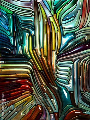 Fototapeta Dance of Iridescent Color Glass