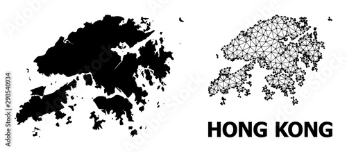 Solid and Carcass Map of Hong Kong Canvas Print