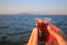 Turkish Tea In Traditional Glass