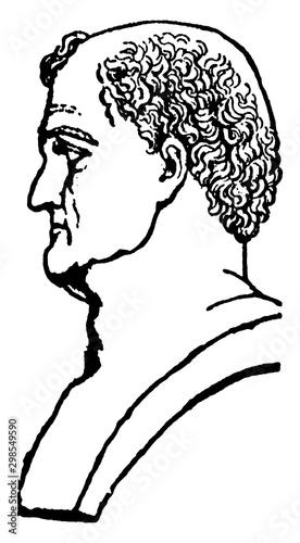 Canvas Print Emperor Titus Flavius Vespasian, vintage illustration