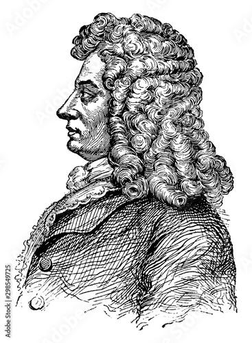 Photo George I, King of England, vintage illustration