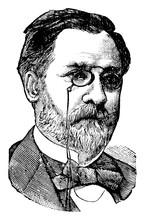 Louis Pasteur, Vintage Illustr...