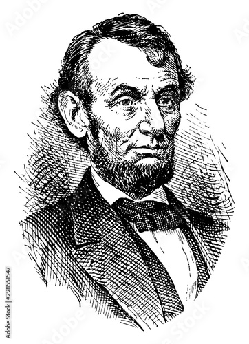 Photographie Abraham Lincoln, vintage illustration