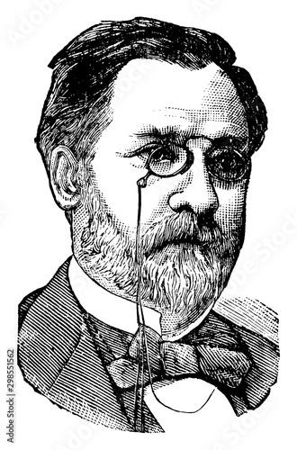 Cuadros en Lienzo Louis Pasteur, vintage illustration