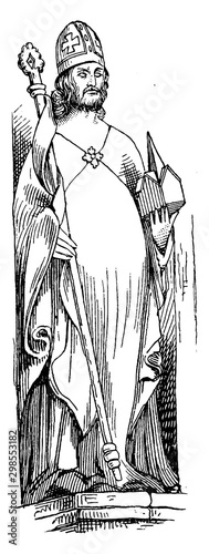 Obraz na plátně St. Augustine, vintage illustration