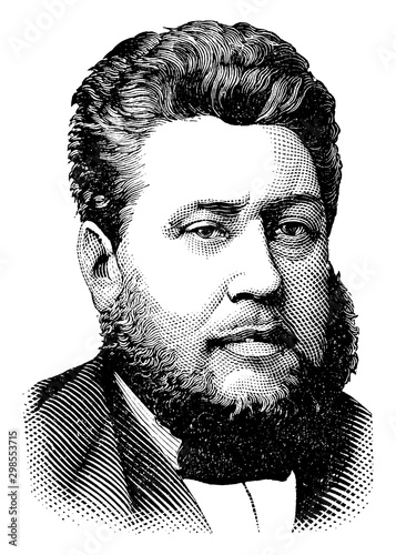 Obraz Rev. Charles Haddon Spurgeon, vintage illustration - fototapety do salonu