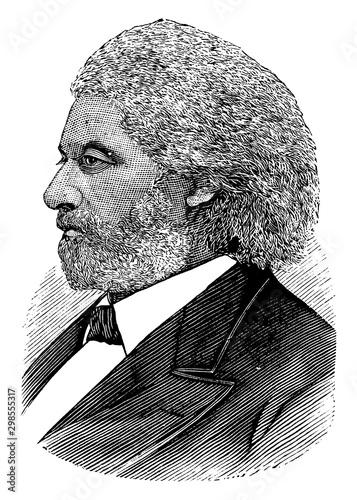 Fotomural Frederick Douglass, vintage illustration