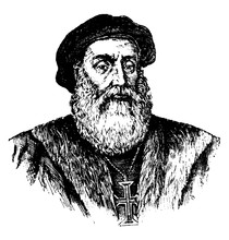 Vasco Da Gama, Vintage Illustration
