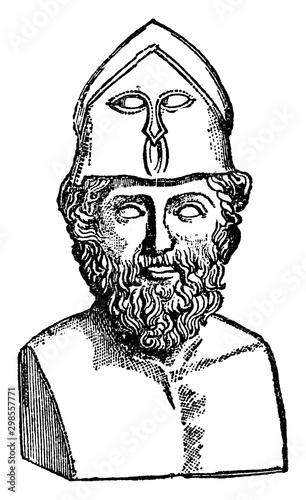 Obraz na plátne Themistocles, vintage illustration