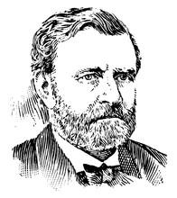 General Ulysses S. Grant, Vintage Illustration
