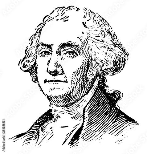 George Washington, vintage illustration Canvas Print