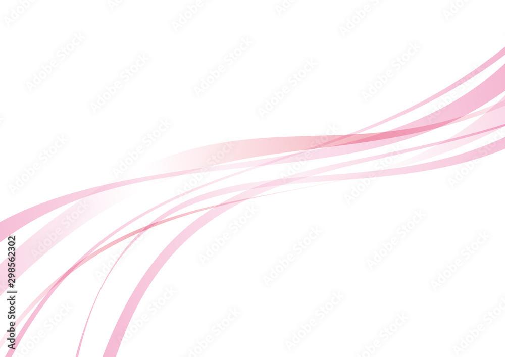 Fototapety, obrazy: アブストラクト 滑らかな曲線 波 ピンク