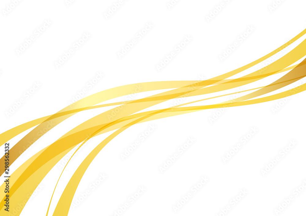アブストラクト 滑らかな曲線 波 黄色