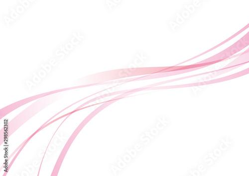 Pinturas sobre lienzo  アブストラクト 滑らかな曲線 波 ピンク