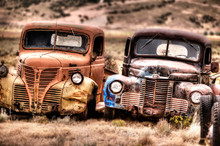 Old Car In Desert