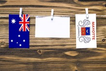 Hanging Flags Of Australia And...