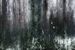 Leinwanddruck Bild - closeup Old peeling paint wall