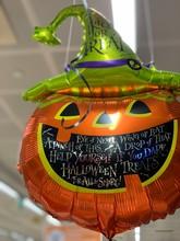 Orange Halloween Balloon In Fo...
