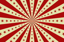 Vector Red Circus Retro Poster