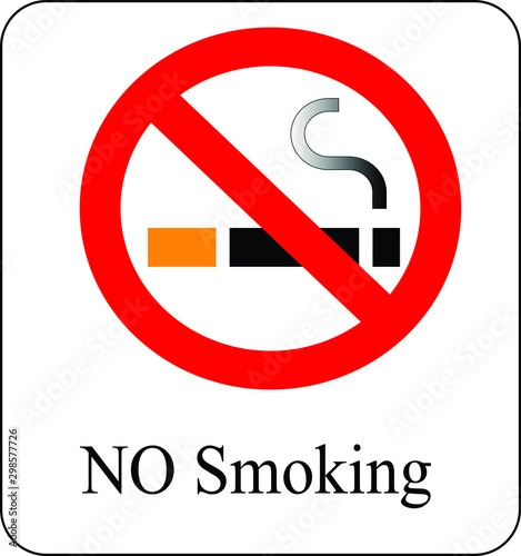 Valokuva No smoking in public places School hospitals etc vector illustration