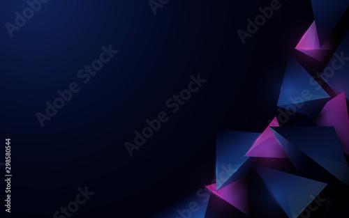 Abstract 3d polygonal pattern luxury dark blue with purple background Fototapete