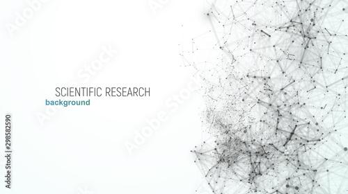 Fotografía  Scientific or medical research vector illustration