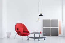 Fashionable Red Armchair With ...