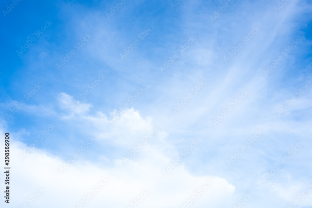 Fototapety, obrazy: The nature of blue sky with cloud in the morning.