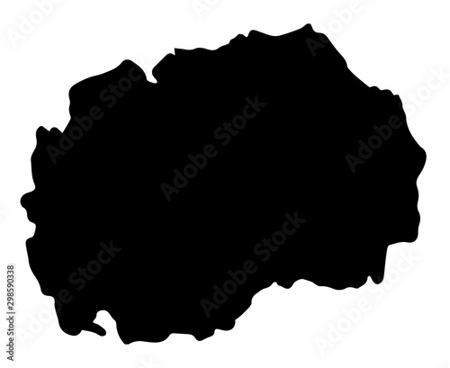 Photo Macedonia Republic Map Silhouette