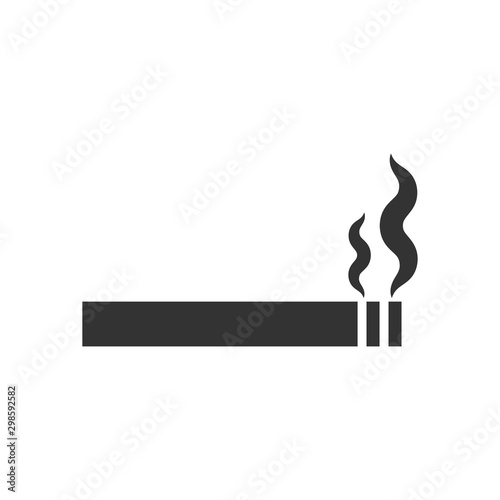 Cigarette icon in flat style Canvas Print
