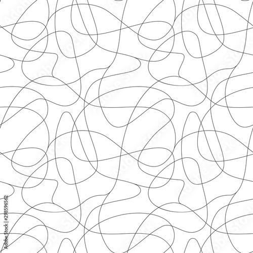 Montage in der Fensternische Künstlich Curls hand drawn seamless pattern