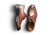 Brown Leather Men's Shoes In C...